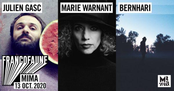 FrancoFaune 2020 :Julien Gasc • Marie Warnant • Bernhari